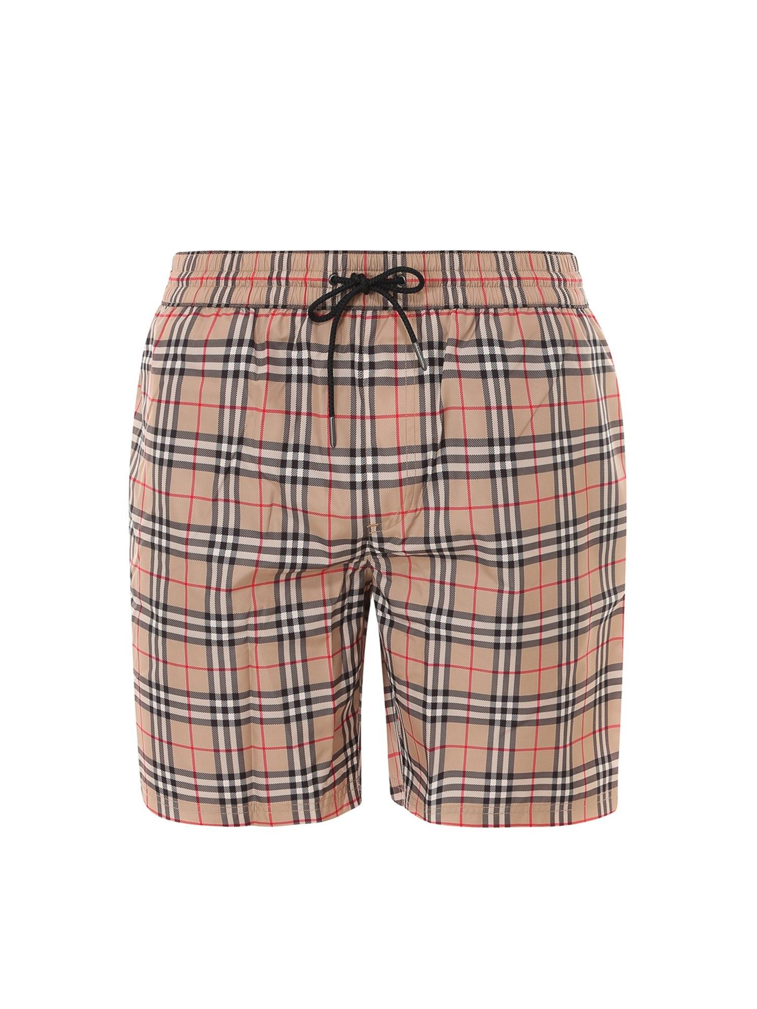 Burberry VINTAGE CHECK SWIM TRUNKS IN BIEGE