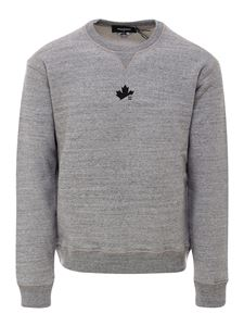 Dsquared2 - Cotton sweatshirt in melange grey