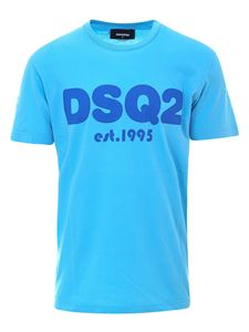 Dsquared2 - Cotton T-shirt in light blue