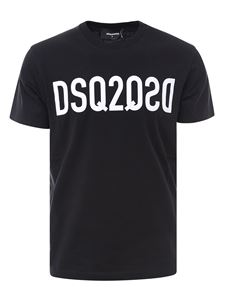 Dsquared2 - Branded cotton T-shirt in black