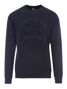 Paul & Shark - Embroidered cotton sweatshirt in blue