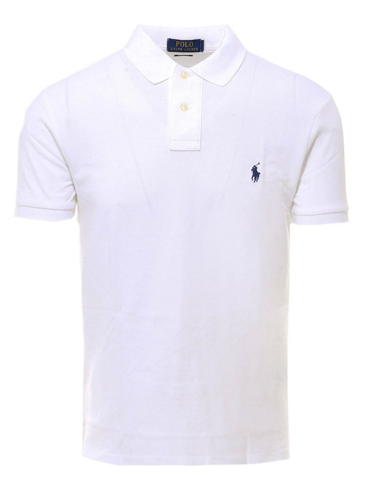 POLO RALPH LAUREN POLO RALPH LAUREN WHITE COTTON POLO SHIRT