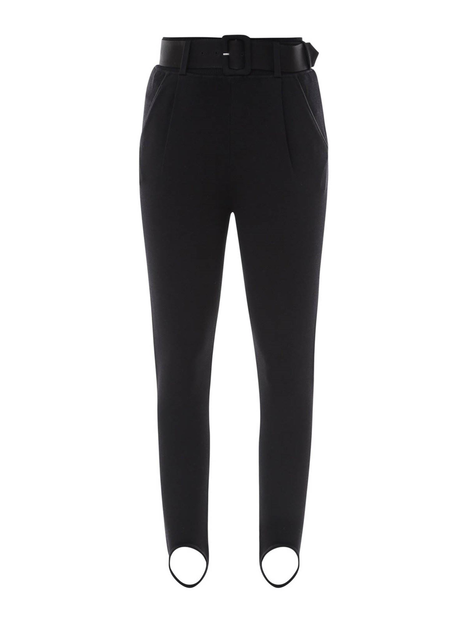 Self-Portrait KNITTED TROUSERS IN BLACK