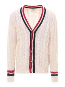Etro - Cable knit cotton cardigan in beige