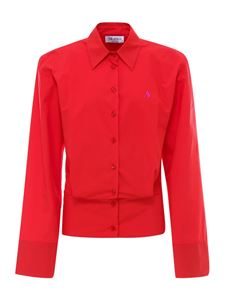 The Attico - Structured cotton shirt in red