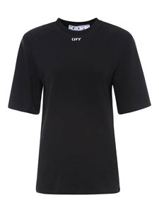 Off-White - Oversized cotton T-shirt in black