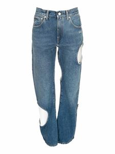 Off-White - Denim Hole Baggy jeans in blue