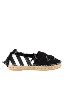 Off-White - Espadrillas in tela nera e bianca