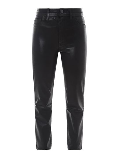 J Brand - Maria faux leather pants in black
