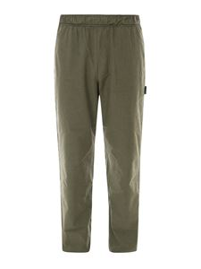 Palm Angels - Cotton canvas trousers in green