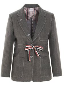 Thom Browne - Single breasted blazer in grey