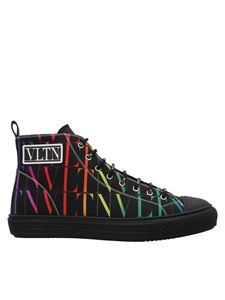 Valentino Garavani - Sneakers con logo VLTN all-over nere