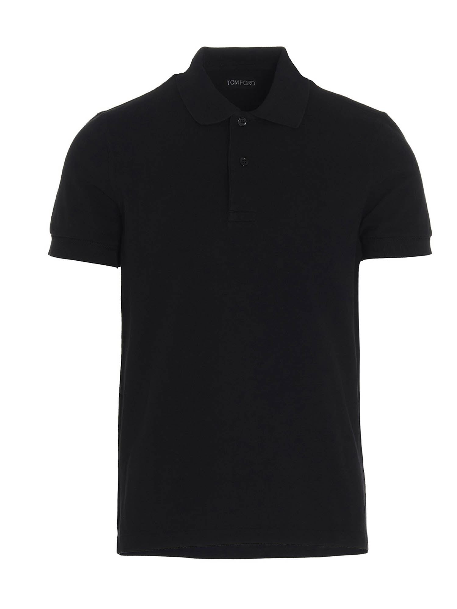 TOM FORD COTTON POLO SHIRT IN BLUE