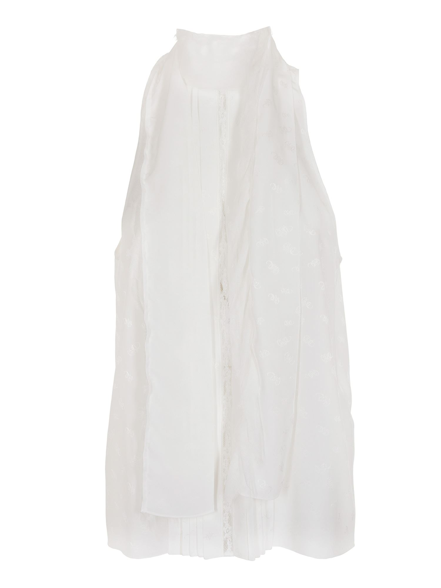 Chloé SLEEVELESS SHIRT IN WHITE