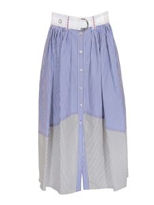 Chloé - Striped skirt in blue and white