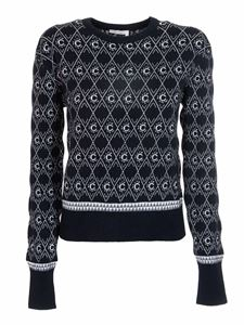 Chloé - Monogram sweater in blue