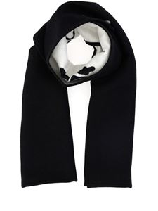 Off-White - Jacquard wool cotton blend scarf