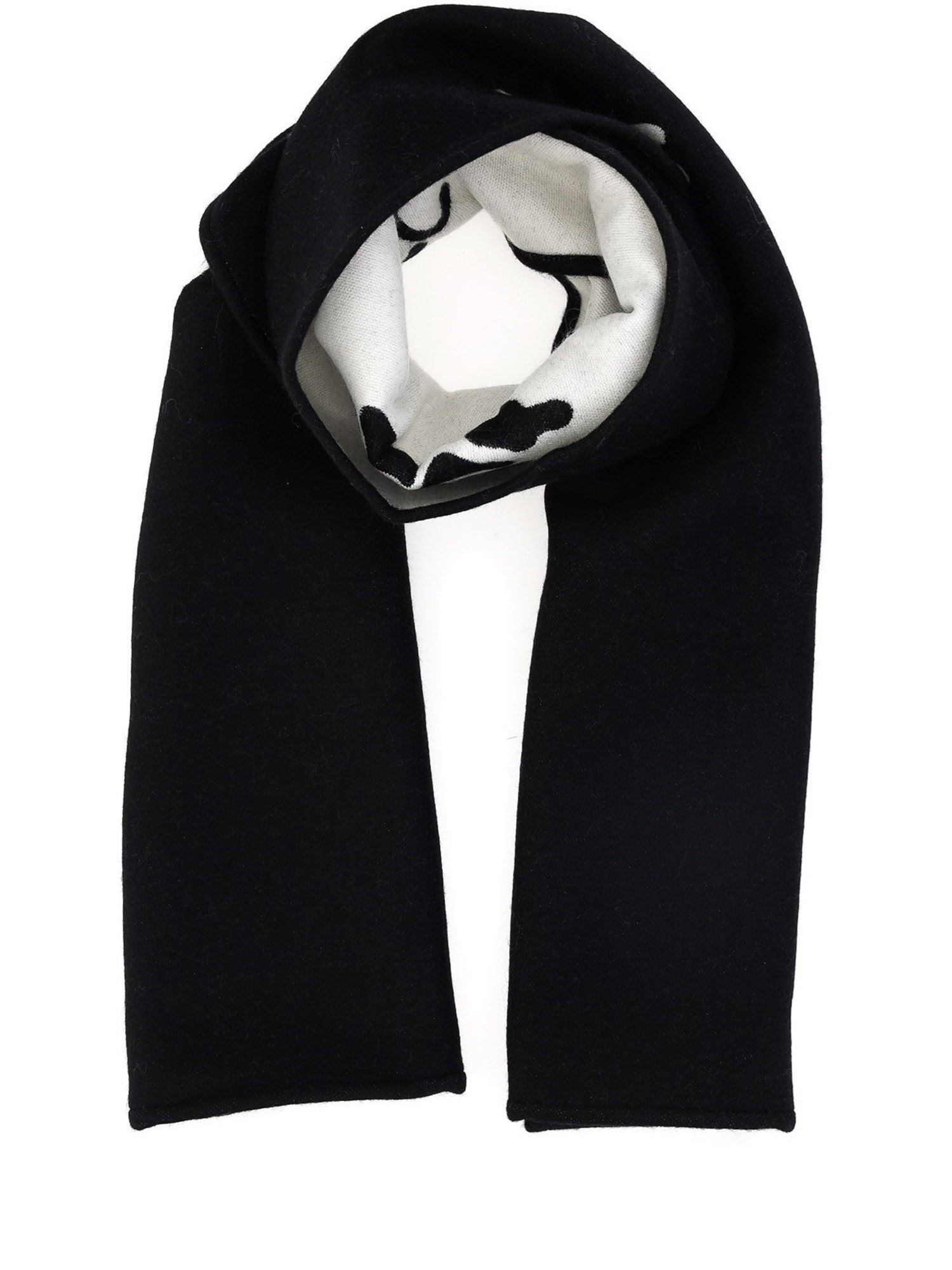Off-White JACQUARD WOOL COTTON BLEND SCARF