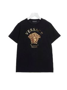 Versace Young - Medusa logo T-shirt in black