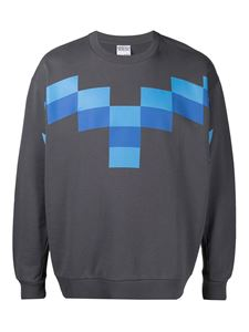 Marcelo Burlon County Of Milan - Pixel Wings sweatshirt in grey
