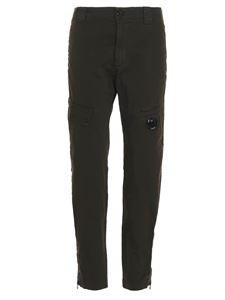 CP Company - Zip logo lens chino pants in green
