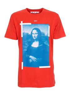 Off-White - Blue Monnalisa T-shirt in red
