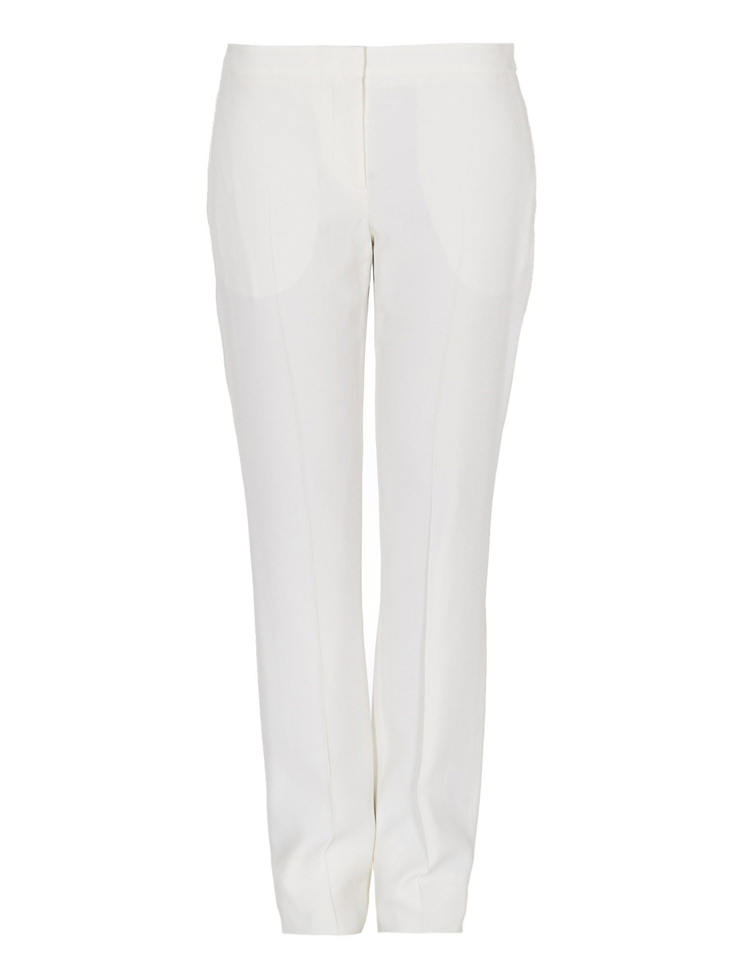 Alexander Mcqueen White Crêpe Cigarette Trousers In White