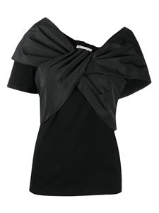 Alexander McQueen - Cotton T-shirt with bow in black