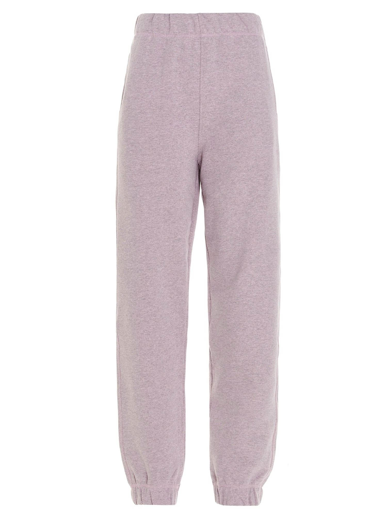 GANNI ISOLI ELASTICATED WAIST PANTS IN LILAC