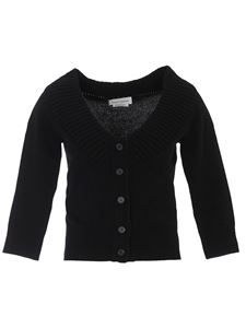 Alexander McQueen - Cropped cashmere cardigan in black