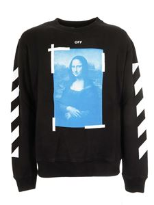 Off-White - Blue Monnalisa sweatshirt in black