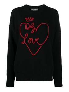 Dolce & Gabbana - DG Love embroidery jumper in black