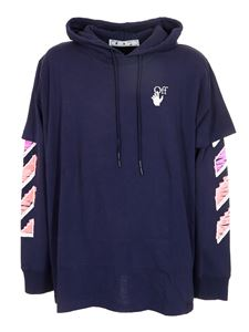 Off-White - Marker Arrows layered hoodie in purple