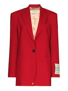 Golden Goose - Wool blend single breasted blazer in red