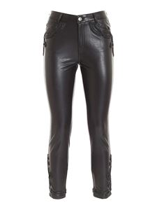 Ermanno Scervino - Synthetic leather pants in black