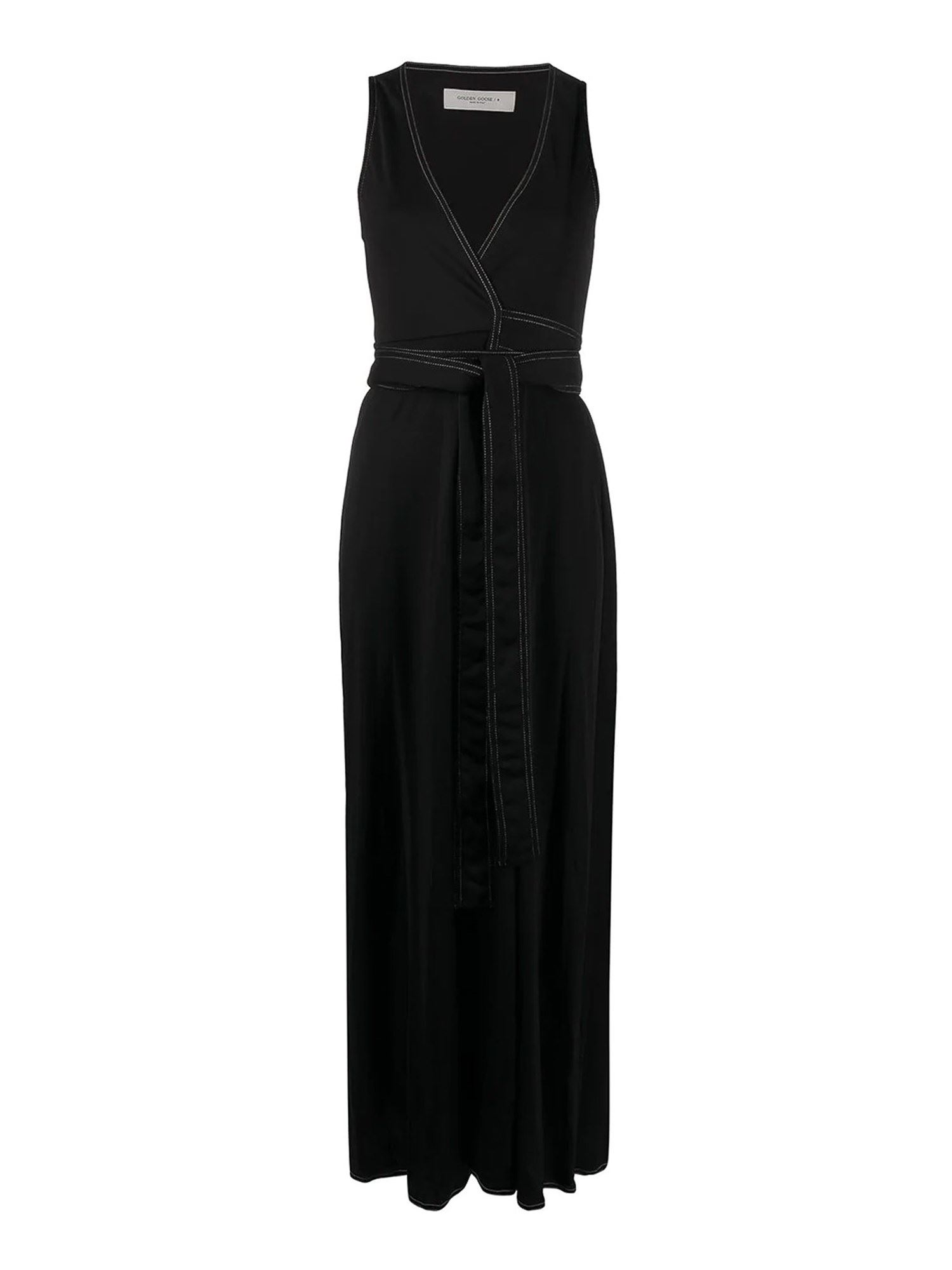 Golden Goose BLACK VISCOSE BLEND LONG DRESS