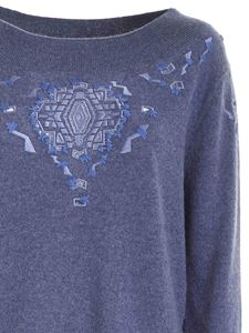 Ermanno Scervino - Contrasting embroidery pullover in blue