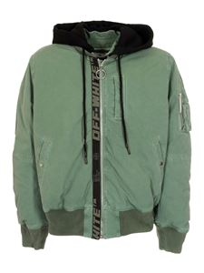 Off-White - Arrow Vintage Bomber Hedge in green