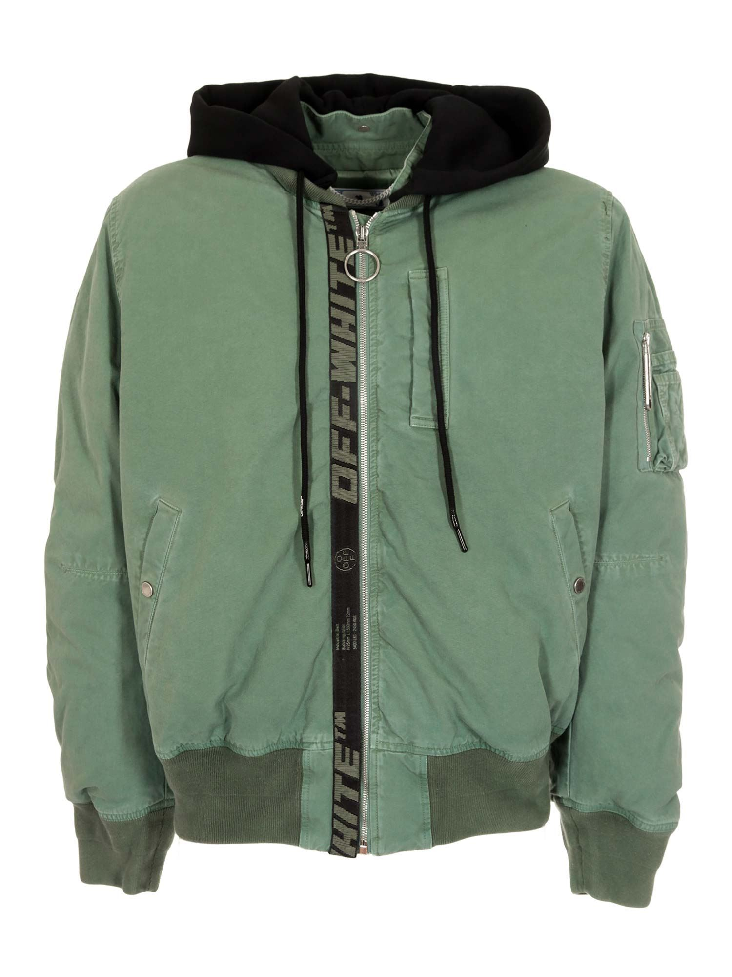 Off-White ARROW VINTAGE BOMBER HEDGE IN GREEN