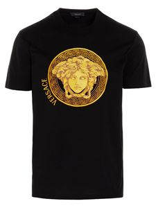 Versace - Medusa Amplified embroidered T-shirt in black