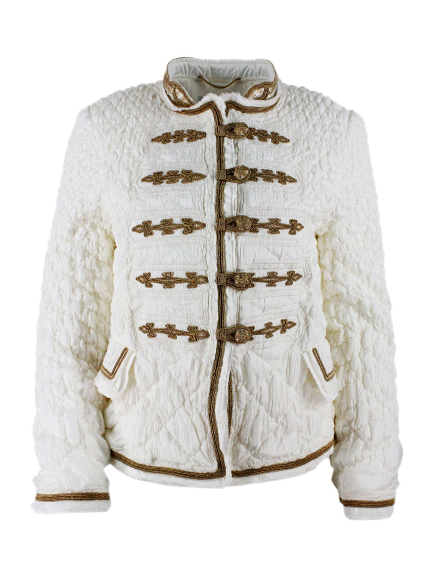 Ermanno Scervino JACKET WITH GOLDEN TRIMMINGS