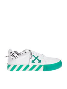 Off-White - Low vulcanized sneakers in white green