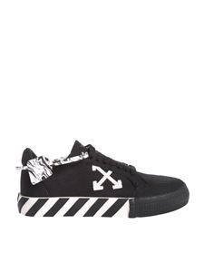 Off-White - Sneakers Low vulcanized nere e bianche