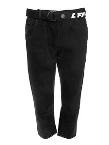 Off-White -  Slim Low Crotch jeans in black
