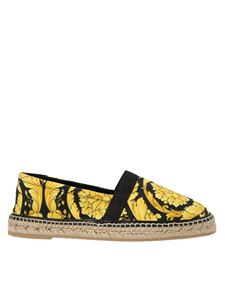 Versace - Barocco espadrilles in black and gold color