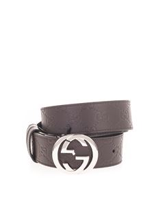 Gucci - Reversible Signature belt in brown and black