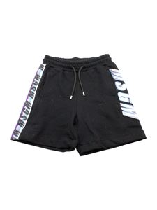 MSGM Kids - Logo bermuda shorts in black