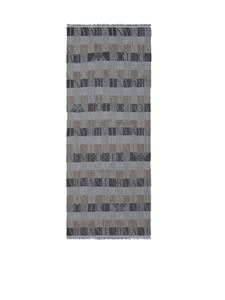 Emporio Armani - Branded scarf in grey