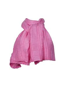 Emporio Armani - Pleated scarf in pink