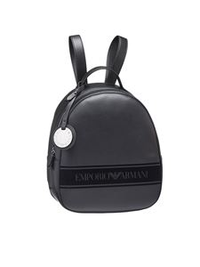 Emporio Armani - Fabric backpack in black